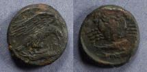Ancient Coins - Sicily, Akragas 425-406 BC, Hexas