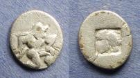 Ancient Coins - Islands off Thrace, Thasos 500-463 BC, Diobol
