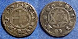 World Coins - Feudal France, Berri-Deols, Raoul VII or VI 1160-76, Billon Denier