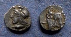 Ancient Coins - Mysia, Kyzicus 410-400 BC, Hemiobol
