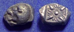 Ancient Coins - Ionia, Miletos Circa 500 BC, Diobol