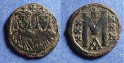 Ancient Coins - Byzantine Empire, Nicephorus I with Stauracius 802-811, Bronze Follis