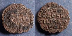 Ancient Coins - Byzantine Empire, Constantine VII w/ Zoe as Regent 914-9, Follis