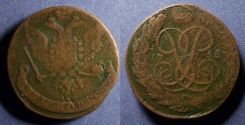 World Coins - Russia, Elizabeth 1758, 5 Kopeck