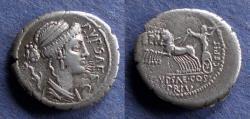 Ancient Coins - Roman Republic, P Plautius Hypsaeus 58 BC, Denarius