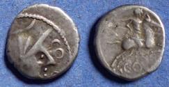Ancient Coins - Celtic Gaul, Allobroges 75-52 BC, Silver Unit