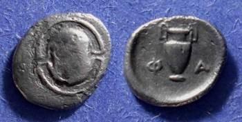 Ancient Coins - Pharai Boeotia - Obol - Circa 350 BC