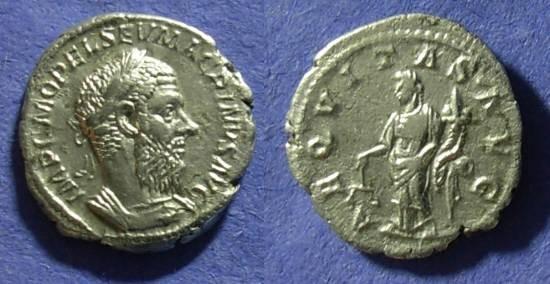 Ancient Coins - Macrinus 217/8AD - Denarius