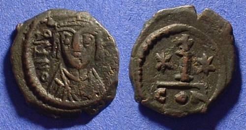 Ancient Coins - Byzantine Empire - Maurice Tiberius 582-602 Decanummium