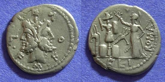 Ancient Coins - Roman Republc - M Furius L f Philus - Denarius 119 BC