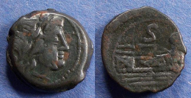 Ancient Coins - Roman Republic, Anonymous Circa 160 BC, Semis