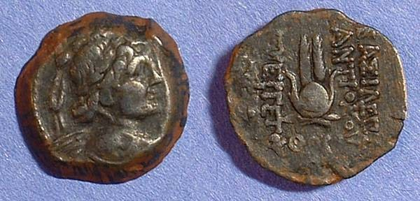 Ancient Coins - Seleucid Kingdom Antiochos VII 138-129 BC AE-18