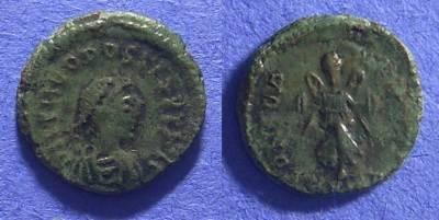 Ancient Coins - Theodosius II 402-450 AD – AE4 – Rare type – nice