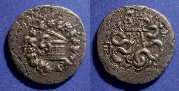 Ancient Coins - Pergamon, Mysia 133-67 BC, Cistophoric Tetradrachm