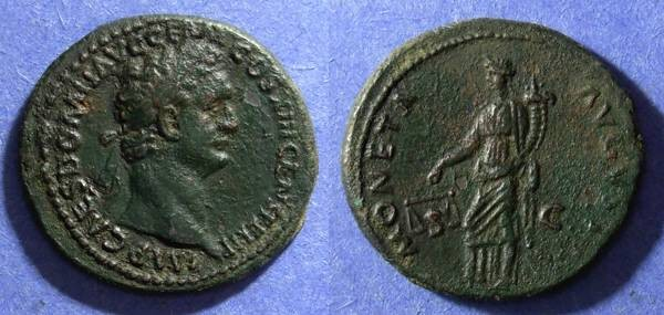 Ancient Coins - Roman Empire, Domitian 81-96 AD, As