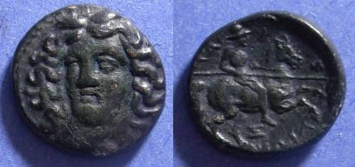 Ancient Coins - Larissa, Thessaly 400-344 BC, AE18