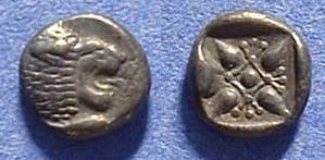 Ancient Coins - Miletos Ionia - 1/12 stater Circa 500 BC