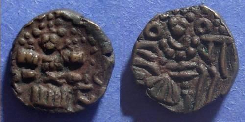 Ancient Coins - Kashmir, Jagaddeva Circa 1200 AD, AE18