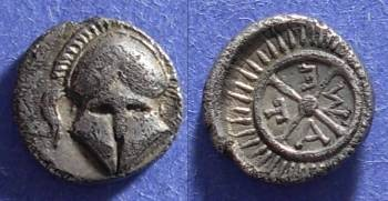 Ancient Coins - Messembria , Thrace 450-350BC, Diobol