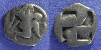 Ancient Coins - Thasos – Island off Thrace: 510-480BC Trihemiobol