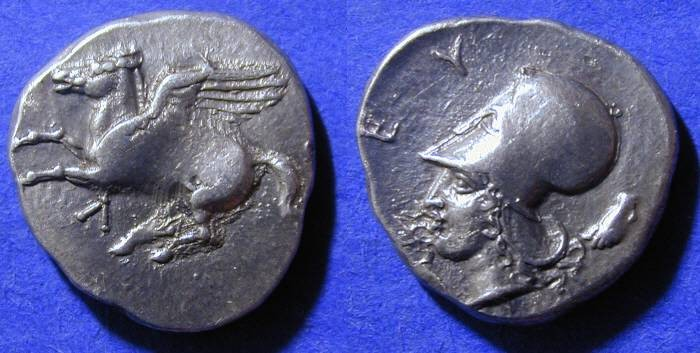 Ancient Coins - Leukas Akarnania - Stater - 390-345 BC