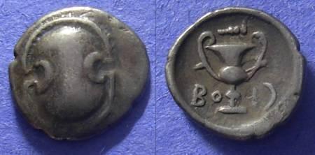 Ancient Coins - Boetia, Federal Circa 350 BC, Hemidrachm