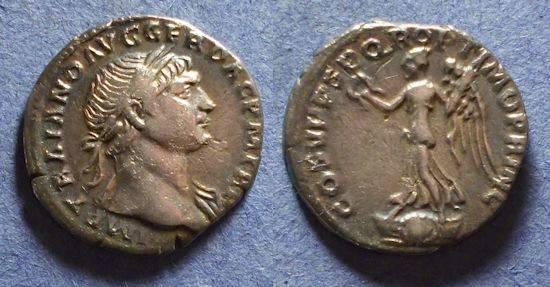 Ancient Coins - Roman Empire, Trajan 98-117, Denarius