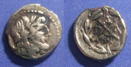 Ancient Coins - Achean League, Pallantion 88-30 BC, Fourree Hemidrachm