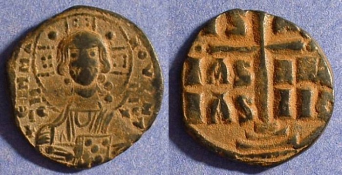 Ancient Coins - Byzantine Empire - Anonymous Follis - Class B 1028-34 AD
