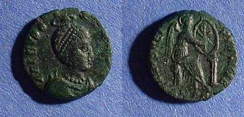 Ancient Coins - Eudoxia - Wife of Arcadius AE-3 - Died 404 AD