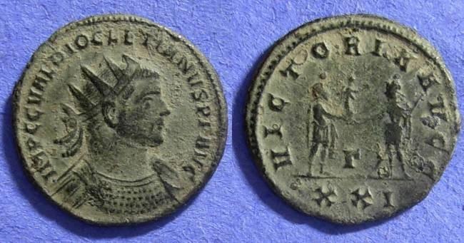 Ancient Coins - Diocletian 284-305 AD Antoninianus (pre-reform)