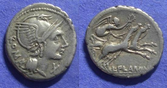 Ancient Coins - Roman Republic – Flaminia 1 – 109-8 BC Denarius