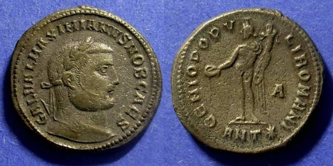 Ancient Coins - Roman Empire Galerius (as Caesar) 293-305 Follis