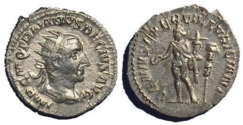 Ancient Coins - Trajan Decius, 249-251 AD, Antoninianus