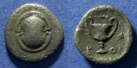 Ancient Coins - Boeotia, Federal coinage 395-340 BC, Hemidrachm