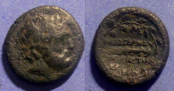 Ancient Coins - Roman Macedonia, Fourth prefecture 158-150 BC, AE14