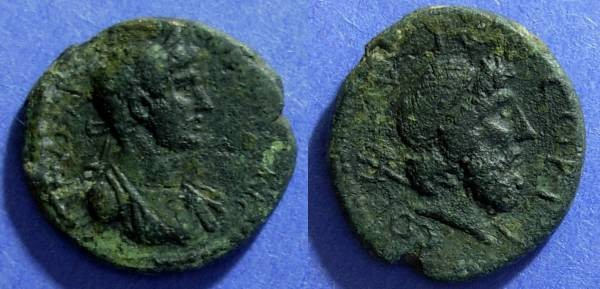 Ancient Coins - Roman Corinth, Hadrain 117-138, AE21