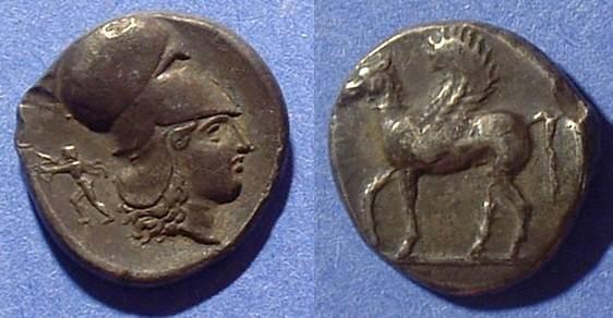 Ancient Coins - Corinth Stater Circa 350-300 BC - Calciati plate coin