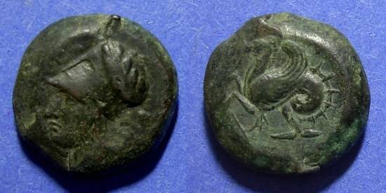Ancient Coins - Syracuse Sicily, Dionysos Circa 400 BC, Litra