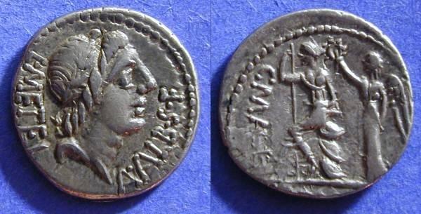 Ancient Coins - Roman Republic - Denarius 96 BC - Caecilia 46a