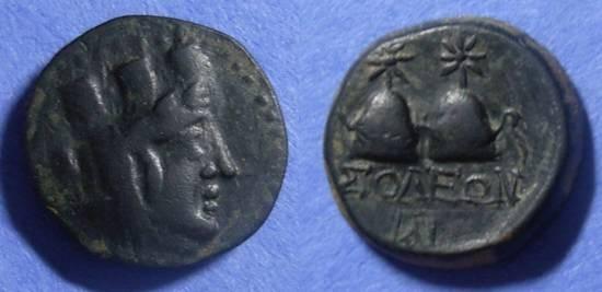 Ancient Coins - Soloi, Cilicia Circa 150 BC, AE19