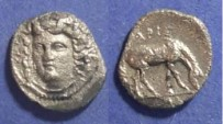 Ancient Coins - Larissa, Thessaly 395-343 BC, Obol