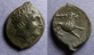 Ancient Coins - Siciliy, Syracuse, Agathocles 317-289 BC, Litra