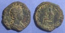 Ancient Coins - Roman Empire, Herennia Etruscilla 249-251, Sestertius