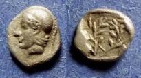 Ancient Coins - Aeolis, Elaia 450-400 BC, Hemiobol