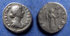 Ancient Coins - Roman Empire, Faustina Jr 147-175, Silver Denarius
