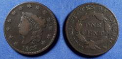 Us Coins - United States,  1827,  Coronet Head Cent