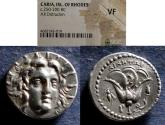 Ancient Coins - Islands off Caria, Rhodes 205-195 BC, Didrachm