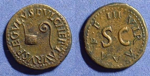 Ancient Coins - Augustus 27BC-14AD Quadrans