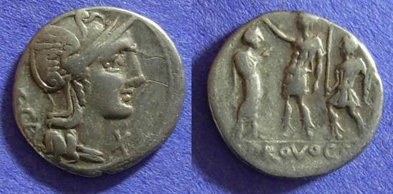 Ancient Coins - Roman Republic - P Laeca - Denarius 110-109 BC